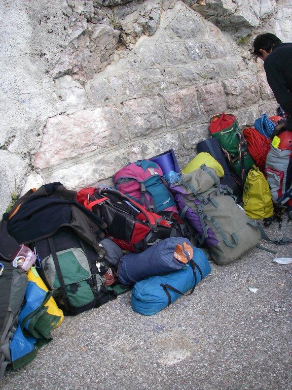 Il materiale della spedizione